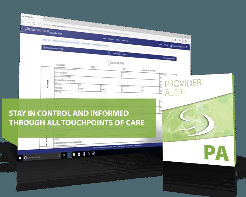 Provider Alert interoperability healthcare engine